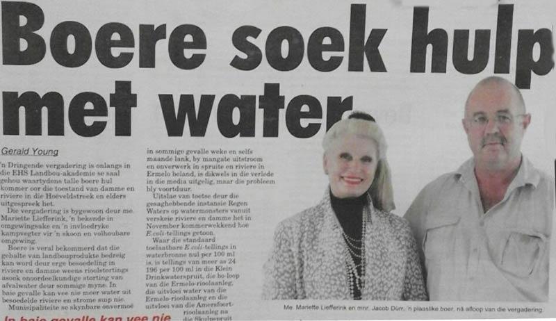 Boere soek hulp met water