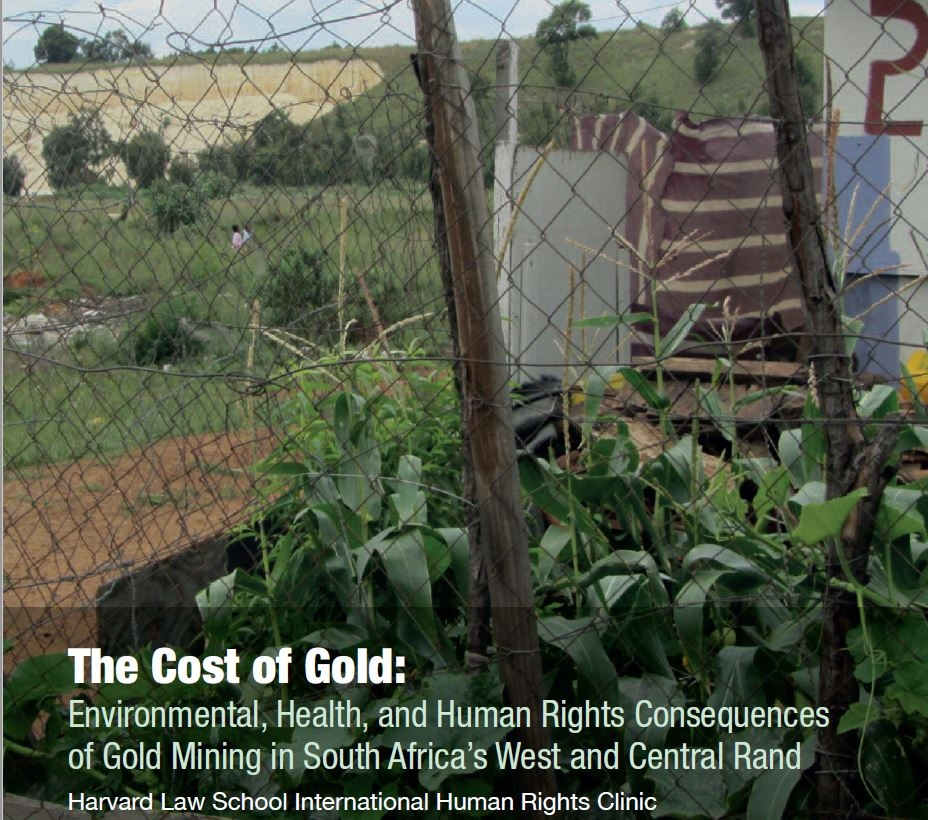 Harvard Report: The Cost of Gold