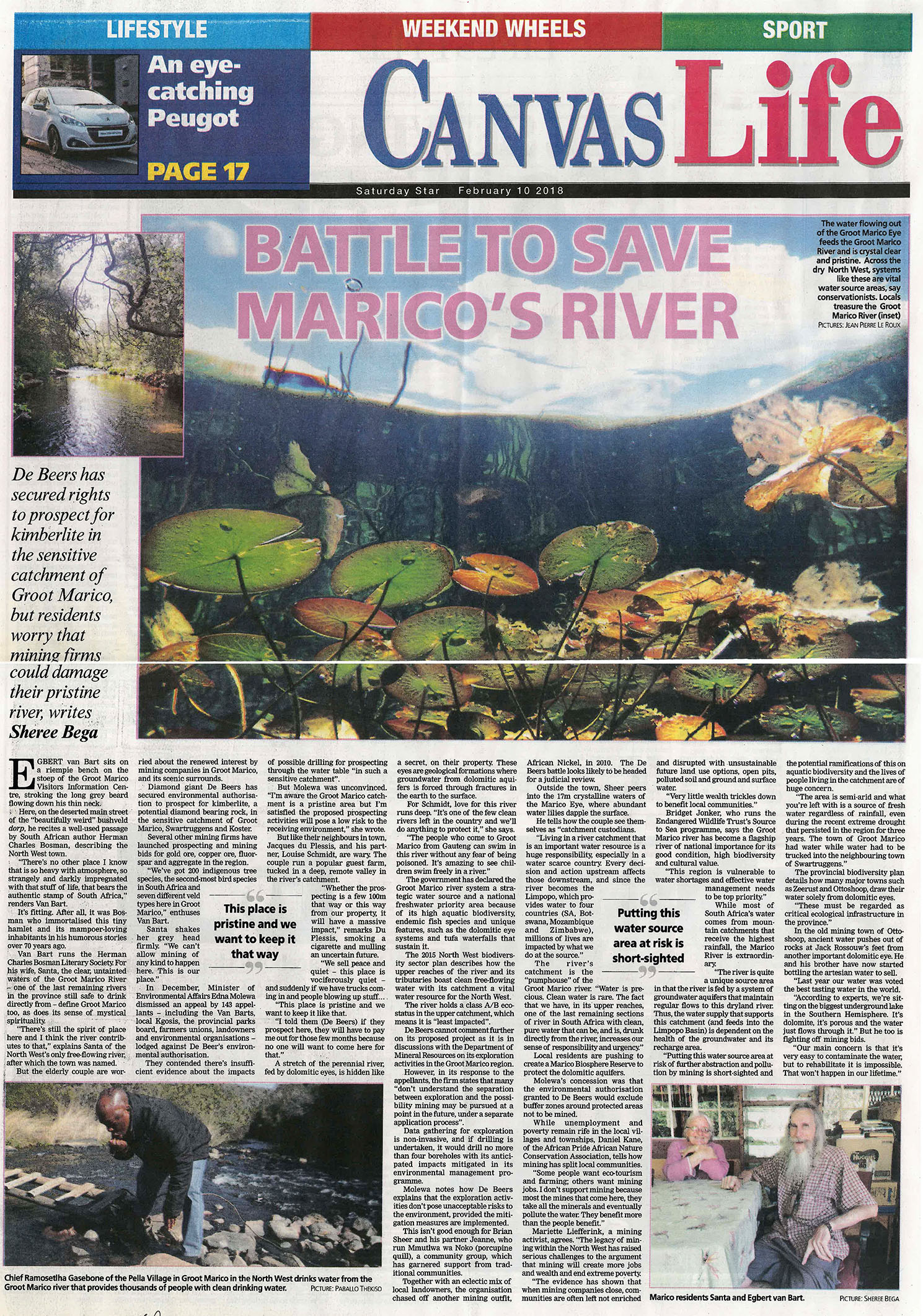 Battle to save Marico's river
